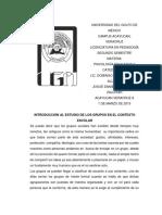 ESTUDIO DE LOS GRUPOS EN EL CONTEXTO ESCOLAR