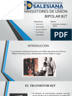 Transistores de Union Bipolar Bjt Presentacion
