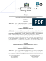 Ley Del Mecanismo Provincial de Prevención de La Tortura y Otros Tratos y Penas Crueles, Inhumanos o Degradantes