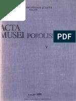 05. Acta Mvsei Porolissensis, V (1981)-Zalau