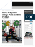 Starter Program for Catalyst Athletics Online Workouts by Greg Everett