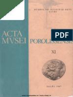 11. Acta Mvsei Porolissensis, XI (1987)-Zalau