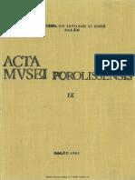 09. Acta Mvsei Porolissensis, IX (1985)-Zalau