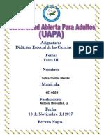Tarea III Didactica Especial de Las Ciencias Sociales