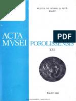 16. Acta Mvsei Porolissensis, XVI (1992)-Zalau