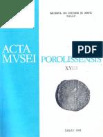 18. Acta Mvsei Porolissensis, XVIII (1994)-Zalau