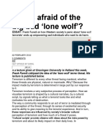Who's Afraid of the Big Bad 'Lone Wolf'