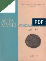 14-15. Acta Mvsei Porolissensis, XIV-XV (1990-1991)-Zalau