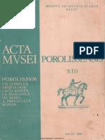 13. Acta Mvsei Porolissensis, XIII (1989)-Zalau