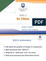 UNIT 2 IN CLASS