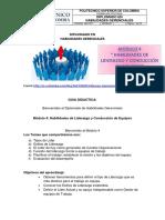 GUIA DIDACTICA 4 Liderazgo y Conduccion de Equipos