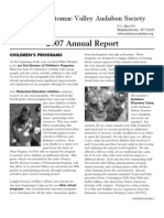 2007 Annual Report Potomac Valley Audubon Society