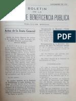 Boletín de la Beneficencia Pública de Lima, 1930