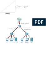 Practica 8.2.5.3 Packet Tracer - Configuring IPv6 Addressing