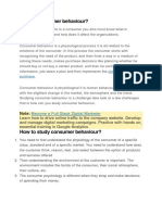 What is Consumer Behaviour (Autosaved)