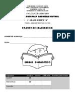 EXAMEN DIAGNSTICO ESPAÑOL Y MATE 4° A