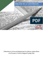 Desarrollando Encuentrso Biblicos en La Universidad