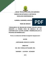 Prevalencia de Brucelosis Bovina-ecuador