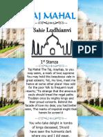 Taj Mahal Poem Analysis