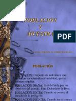 B. Población y Muestra