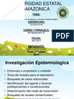 Investigacion Y Analisis Epidemiologico