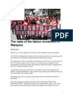 THE LABOUR MOVEMENT IN MALAYSIA AND LABOUR ISSUES - CHARLES HECTOR