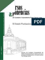 Alvaro Garcia Lineras El Estado Plurinacional