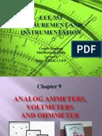 Analog Ammeters, Voltmeters & Ohmmeters (Slide)