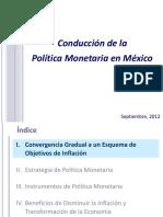 Conducciòn de La Politica_monetaria en México 2012
