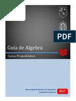 Guía Propedeutico Algebra 2017