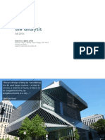 Architectural Site Analysis Guidelines
