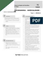 PGE Tecnico Da Procuradoria - Especialidade - Contabilidade (TP-COR) Tipo 1