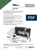 Manual Mityvac 8500 Español