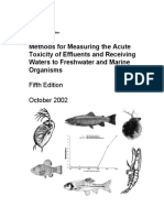 USEPA - Method of Measuring the Acute Toxicity of Effluents and Recieving Water to Freshwater and Marine Organism.pdf