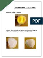 Mordida de Manzana y Chocolate