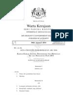 P.U.(A) 36. Kaedah-Kaedah IPA (Retikulasi Air dan Pemasangan Paip) 2014