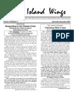 November-December 2007 Island Wings Newsletter Vashon-Maury Island Audubon