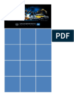 Transformers Activity Card Grid