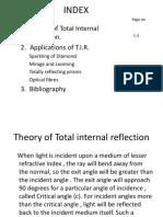 Physics Tir(total internal reflection