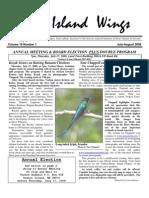 July-August 2008 Island Wings Newsletter Vashon-Maury Island Audubon