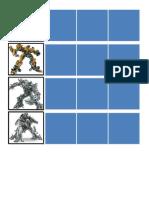 Transformers Schedule Strips