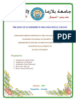 The Role of Leadership in Organizational Change- Thesis Book Plasma University PDF