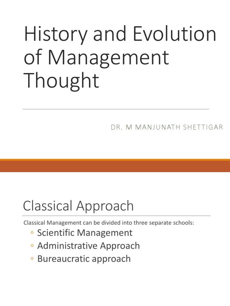 three schools of management thought