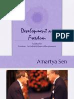 presentation on Amartya Sen-Development as Freedom