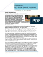 Kaipatiki Local Board Chairs Report Nov 2017