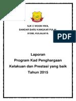 Laporan Program Kad Penghargaan 2015