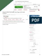 Class IX CBSE PSA Model Test Paper 2014 With Answers