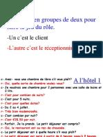 8-Jeu Du Rôle- Reservation d'Un Hôtel