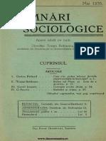 Însemnări Sociologice, Cernăuți. Anul I, Nr 2, Mai 1935