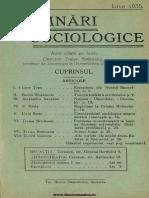 Însemnări Sociologice, Cernăuți. Anul I, Nr 3, Iunie 1935